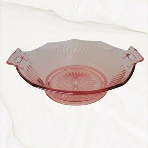 Imperial Glass Hexagon Molly Bowl Dish W/ Handles